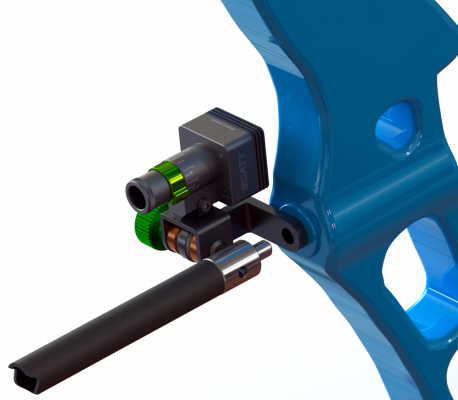 Пример монтажа оптического сенсора