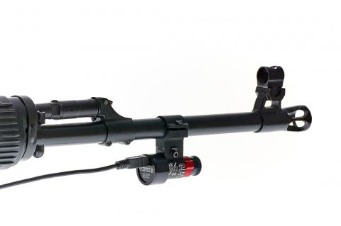 Оптический сенсор СКАТТ закрепленный на стволе винтовки